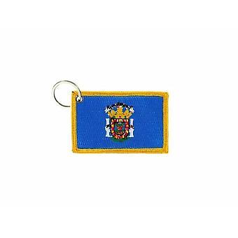 Porte Cle Cles Clef Brode Patch Ecusson Badge Drapeau Melilla Espagne