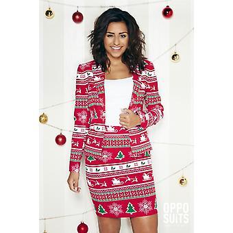 Winterwoman Christmas Costume Women's Costume Opposuit Slimline 2-piece Premium