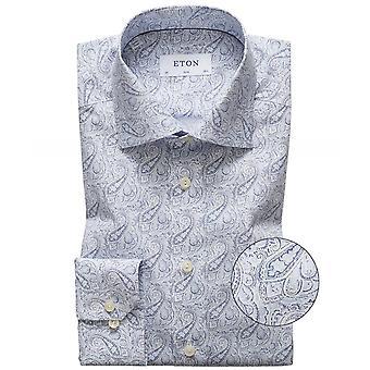 Eton Slim Fit Paisley Hemd