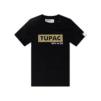 Replay Jeans Replay Tribute 2pac Ltd Edition Tee Black/gold