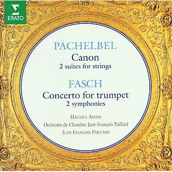 Pachelbel/Fasch - Johann Pachelbel: Canon; 2 Suites for Strings; Johann Fasch: Concerto for Trumpet; 2 Symphonies [CD] USA import