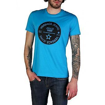 Versace Jeans - Bekleidung - T-Shirts - B3GTB76J_36610_228 - Herren - dodgerblue,black - XXL
