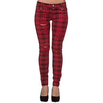 Banned Red Move On Up Trousers XS