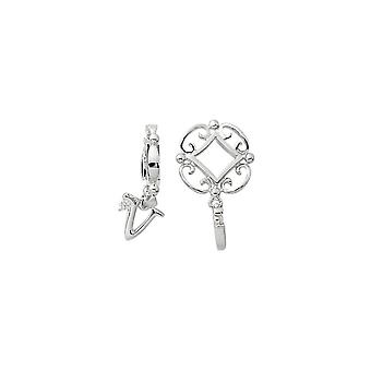 Storywheels Silver V Initial Dangle Charm S221D