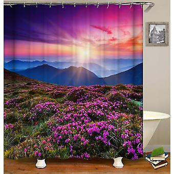 Violet Meadow Shower Curtain