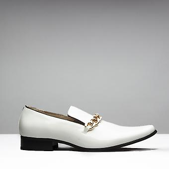 Mister Carlo Sovereign Mens Patent Loafers White