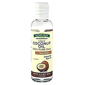 Nature's truth aromatherapy liquid, pure coconut oil, 4 oz
