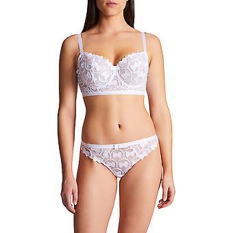 Aubade OC14-02 kvinnor ' s Bow Collection vit icke-vadderad undertråd komfort halv kopp BH