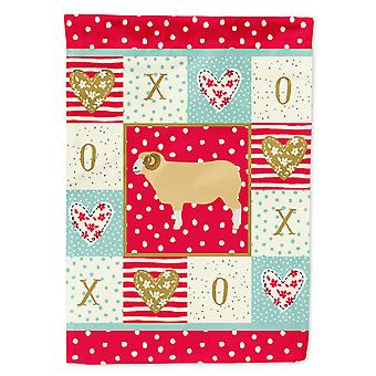 Carolines Treasures  CK5407CHF Horned Dorset Sheep Love Flag Canvas House Size