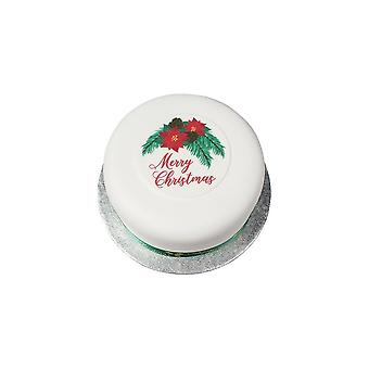 Culpitt Merry Christmas suiker plaque-90mm