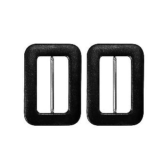50mm Black PVC Covered Buckle with Bar