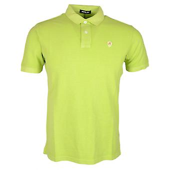 Replay Cotton doorgestikt Logo Lime Polo.