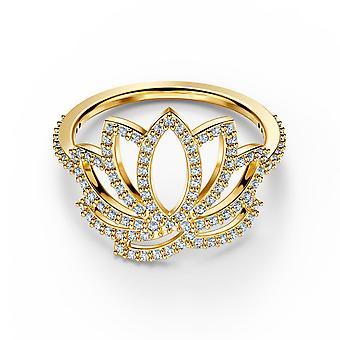 Swarovski Ring 5535601 - M tal rhodi oder Blume Strass Frauen