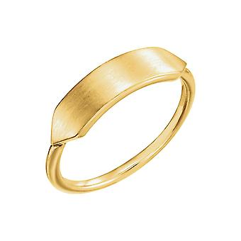 14k Yellow Gold Polished Signet Ring Size 6.5 Jewelry Gifts for Women - 3.0 Grams