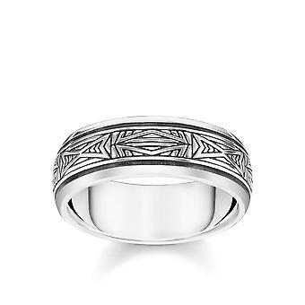 Thomas Sabo Sterling Silver Thomas Sabo Silver Ornament Band Ring TR2277-637-21