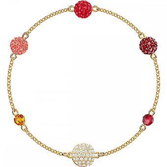 Swarovski Remix Gold Tone Plated & Red Crystal Pop Strand Bracelet