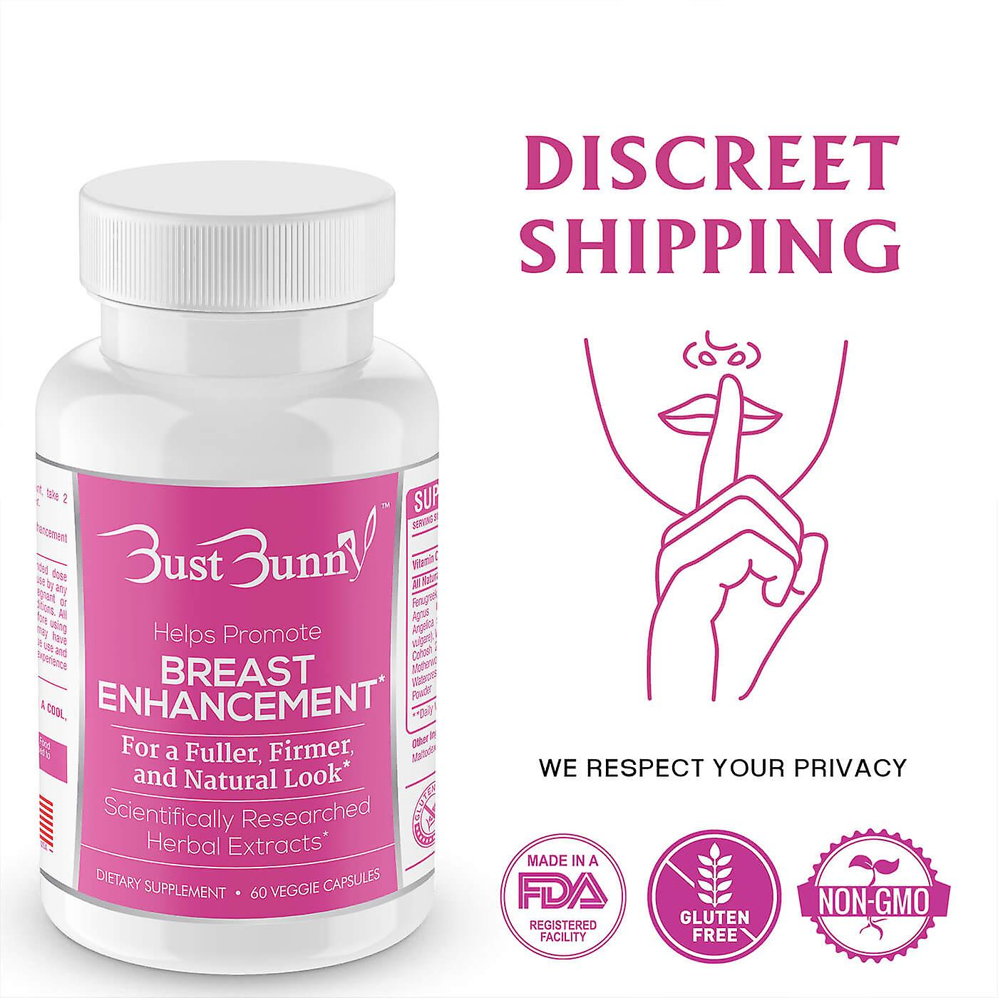 Bust Bunny Breast Enhancement supplement 3 Month Supply