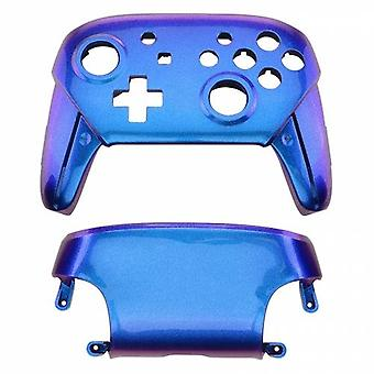 Replacement housing shell for nintendo switch pro controllers front & back cover hard glossy - chameleon blue purple | zedlabz