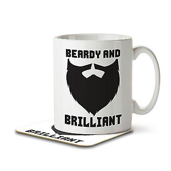 Beardy and Brilliant - Mug and Coaster