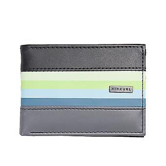 Rip Curl Flow PU Slim Faux Leather Wallet in Black/Grey