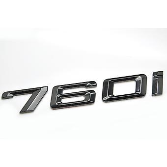 Gloss Black BMW 760i Car Badge Emblem Model Numbers Letters For 7 Series E38 E65 E66E67 E68 F01 F02 F03 F04 G11 G12