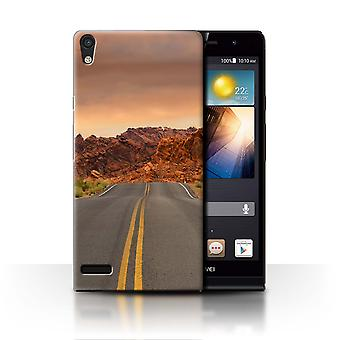 STUFF4 Case/Cover for Huawei Ascend P6/Road/Highway/State of Nevada