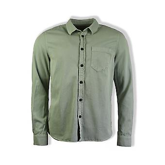 Nudie Jeans Co Henry Pigment Dyed Long-Shirted Shirt (Pale Green)