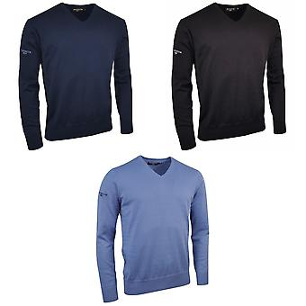 Glenmuir V Neck 100% Cotton Sweater / Knitwear