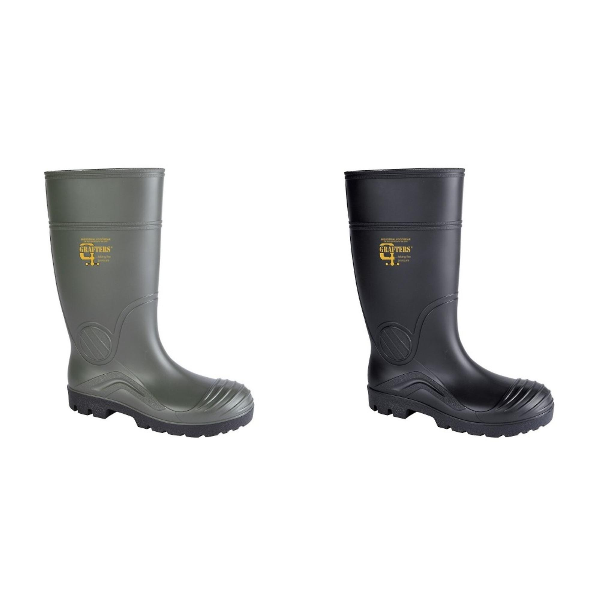 Grafters Womens PVC Safety Waterproof Boot SYWVq