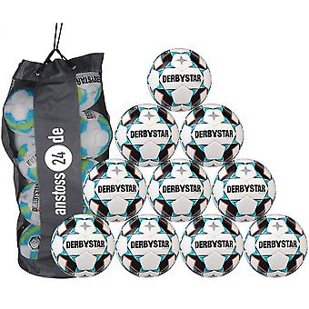 10 x DERBY STAR youth ball - JUNIOR LIGHT includes ball sack