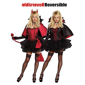 Women Sexy Devil Reversible Costume
