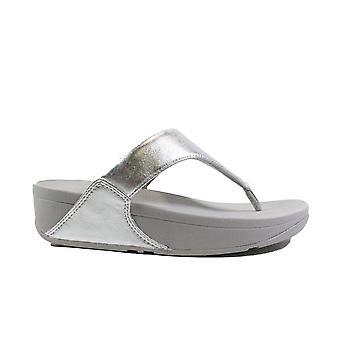 Fitflop Lulu Sølv Læder Dame Slip på tå Post Sandaler