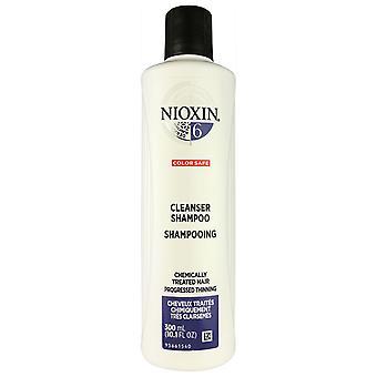 El sistema de champú limpiador De Nioxin #6 para el cabello adelgazante progresado tratado químicamente 10.1 oz