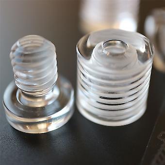 4 x Clear Standoffs, Glass Like, Acrylic, Size 13x13mm