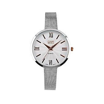 Eton Mesh Bracelet Fashion Watch, Rose Gold Index Classic Dial Dial 3289L-TT