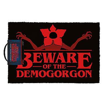 Stranger Things Beware of the Demogorgon Doormat