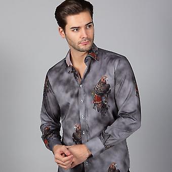 CLAUDIO LUGLI Eagle Print Shirt