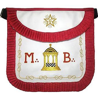 Masonic scottish rite round apron - aasr - master mason - mb temple