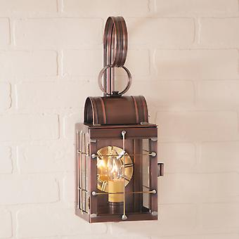 Irvin's Country Tinware Single Wall Lantern in Antique Copper