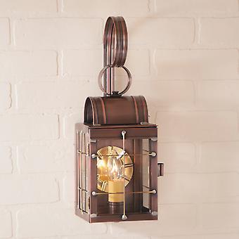 Ирвин в стране Tinware одной стены фонарь в античная медь