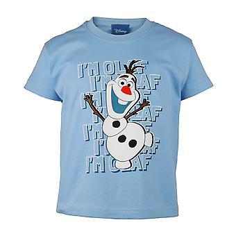 Oficial Kids Disney Frozen 2 T-Shirt - Eu sou Olaf - Boys Girls Snowman Top