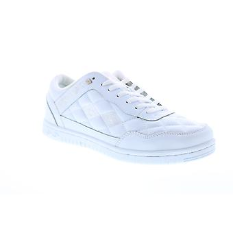 British Knights Quilts  Mens White Leather Lifestyle Sneakers Shoes