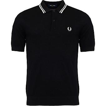 Fred Perry Authentics Textured Knitted Polo Shirt