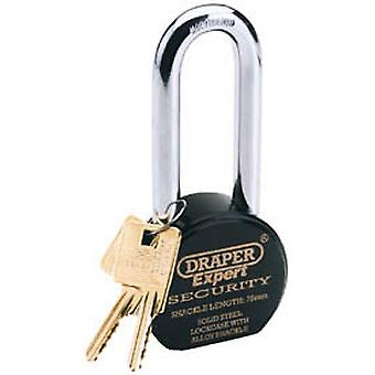Draper 64208 Expert 63mm Heavy Duty Stainless Steel Padlock And 2 Keys
