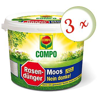 Sparset: 3 x COMPO Lawn Fertilizer Moss - No thanks!, 7.5 kg