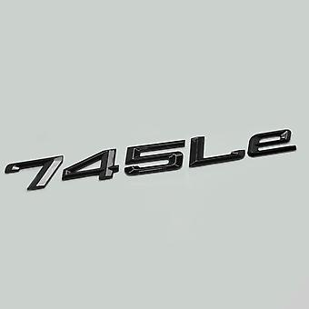 Glosss Black 745Le Car Model Rear Boot Number Letter Sticker Decal Badge Emblem For 7 Series