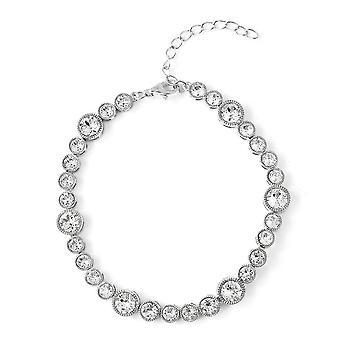 TJC Tennis Made met Swarovski Crystal Bracelet Sterling Zilver, 3.5 Ct