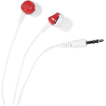 Vivanco SR 3 RED Hi-Fi In-ear headphones In-ear White, Red
