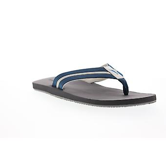 Tommy Bahama Taheeti  Mens Blue Leather Flip-Flops Sandals Shoes