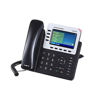 Grandstream Gxp2140 Hd Poe Ip Phone 480 X 272 ملونة Lcd 4 خطوط